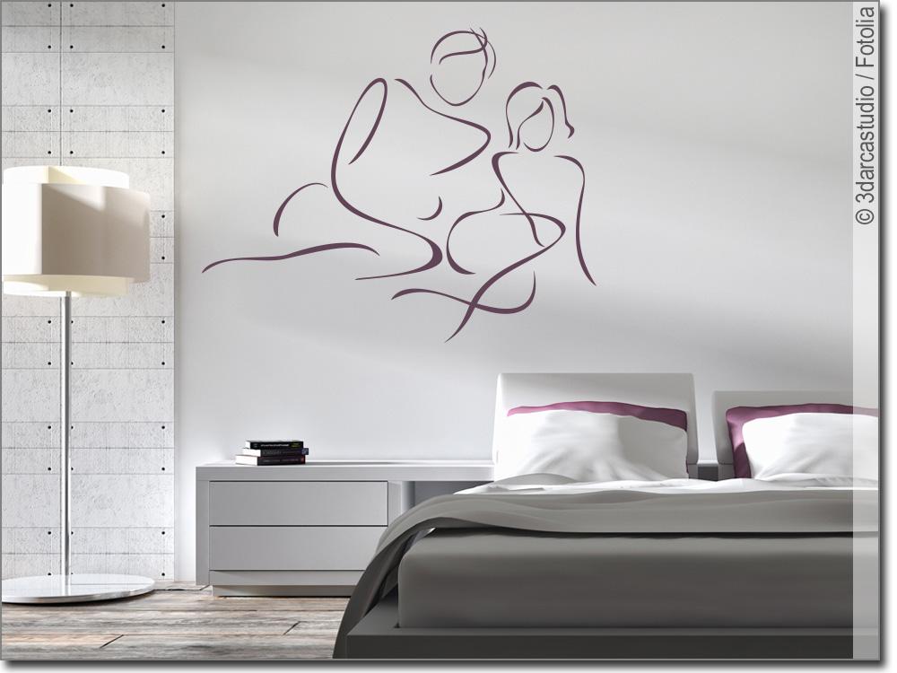 wandtattoo silhouette paar wandsticker frau mann. Black Bedroom Furniture Sets. Home Design Ideas