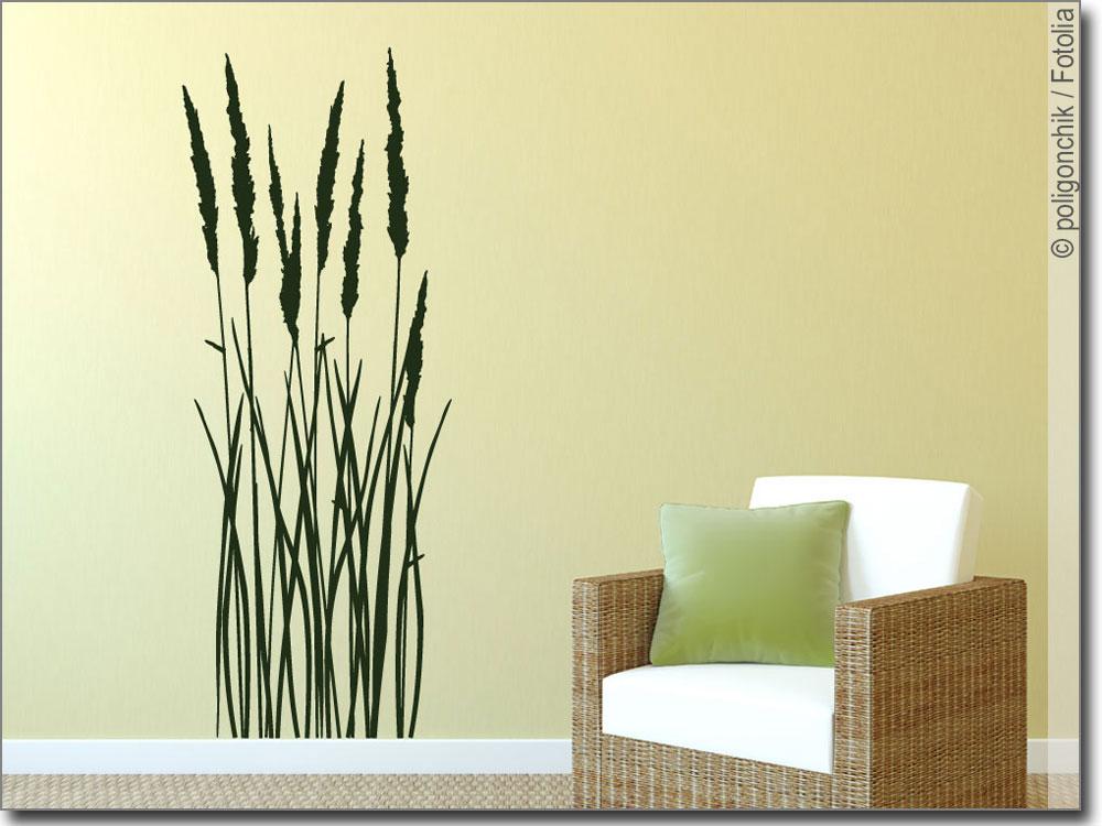 wandtattoo sommer gras wandaufkleber gr ser. Black Bedroom Furniture Sets. Home Design Ideas
