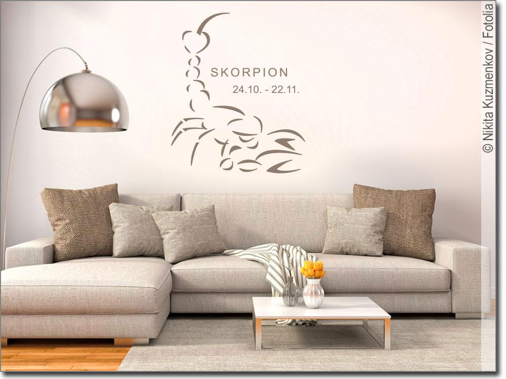 wandtattoo sternzeichen skorpion als wanddekoration. Black Bedroom Furniture Sets. Home Design Ideas