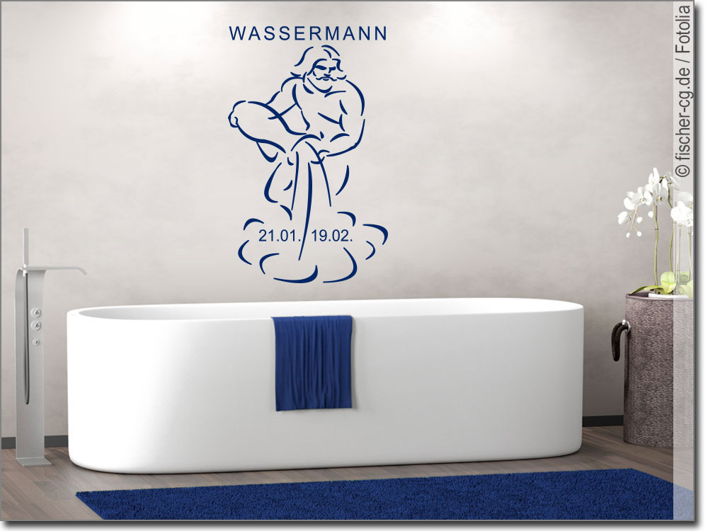 wandtattoo sternzeichen wassermann wandsticker. Black Bedroom Furniture Sets. Home Design Ideas