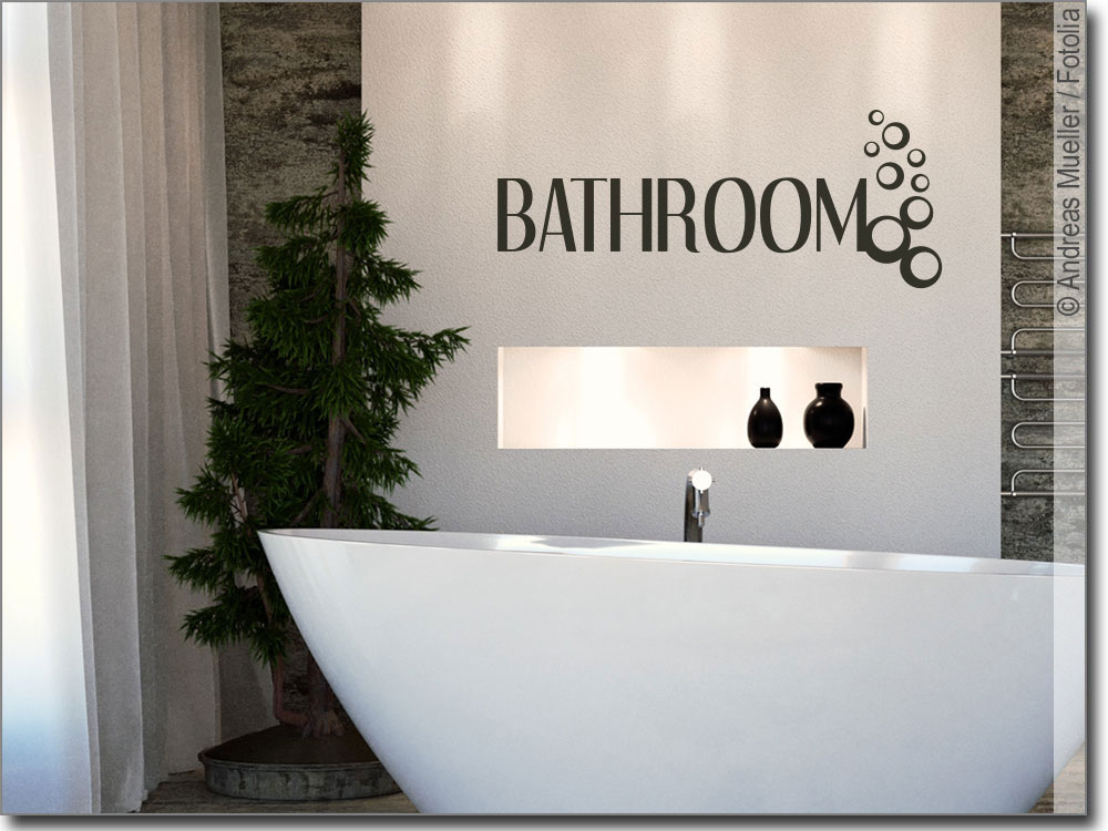 wandwort bathroom tolles wandtattoo f r das bad. Black Bedroom Furniture Sets. Home Design Ideas