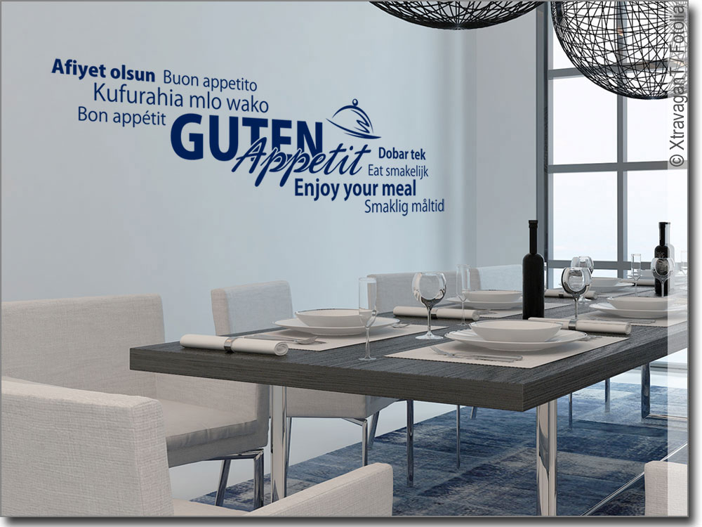 Wandworte Guten Appetit zur Verzierung Ihrer Küchenwand
