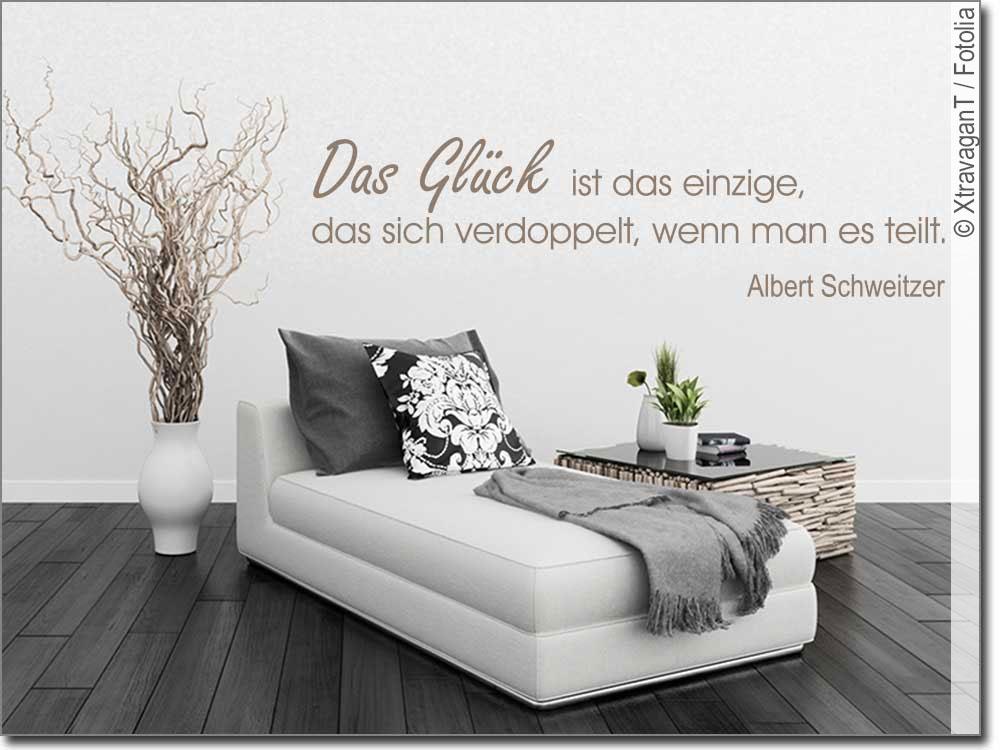 wandtattoo das gl ck ist das einzige albert schweitzer. Black Bedroom Furniture Sets. Home Design Ideas