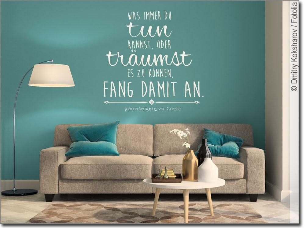 wandzitat was immer du tun kannst wandtattoo zitat. Black Bedroom Furniture Sets. Home Design Ideas