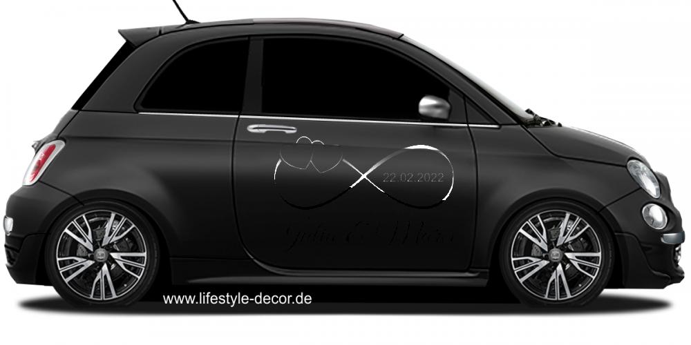 Aufkleber Fürs Auto Zwei Herzen