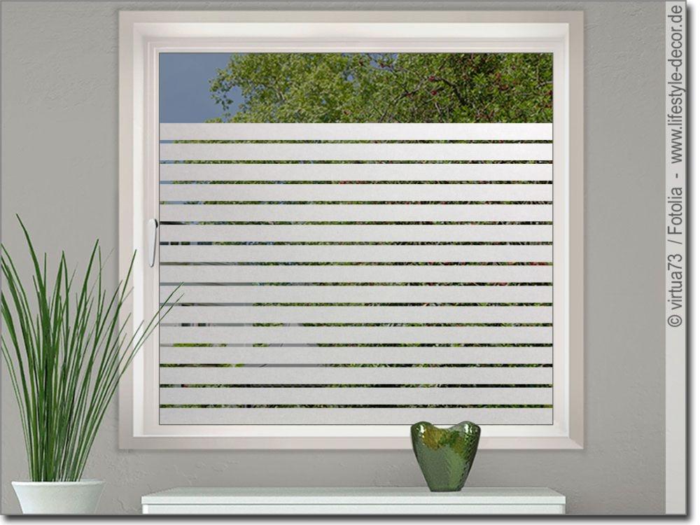 Fensterdekorfolie streifen 5 cm glasaufkleber for Dekorfolie fur kuche