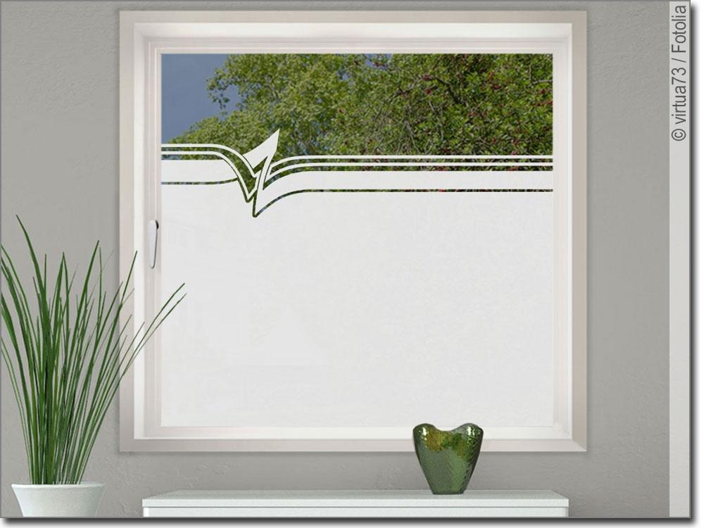 folie fenster modern art. Black Bedroom Furniture Sets. Home Design Ideas