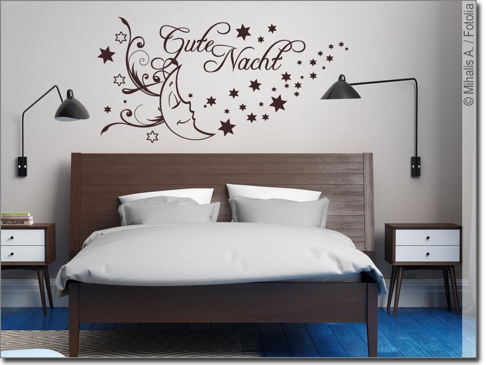 wandworte gute nacht f r kinderzimmer und schlafzimmer. Black Bedroom Furniture Sets. Home Design Ideas
