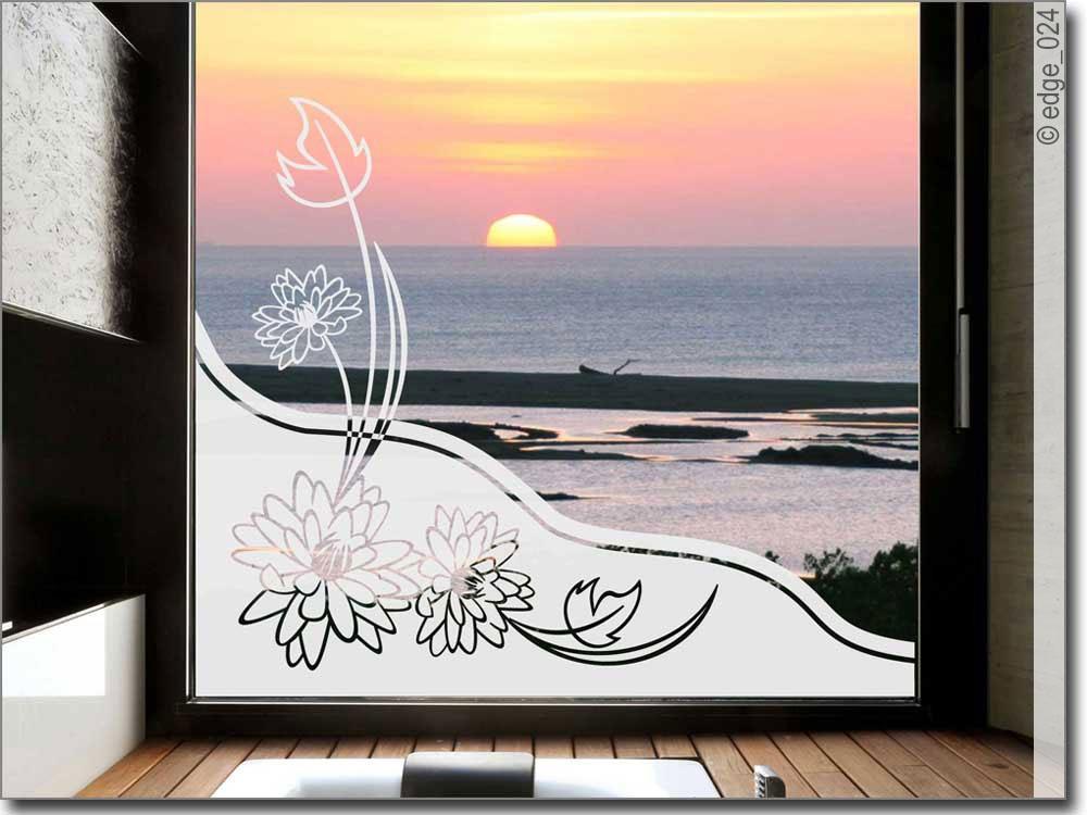 Sichtschutz glas bl tenwind blickdichte klebefolie for Glas klebefolie