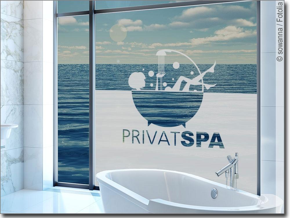 Sichtschutz privat spa klebefolie f rs badfenster - Sichtschutzfolie badfenster ...