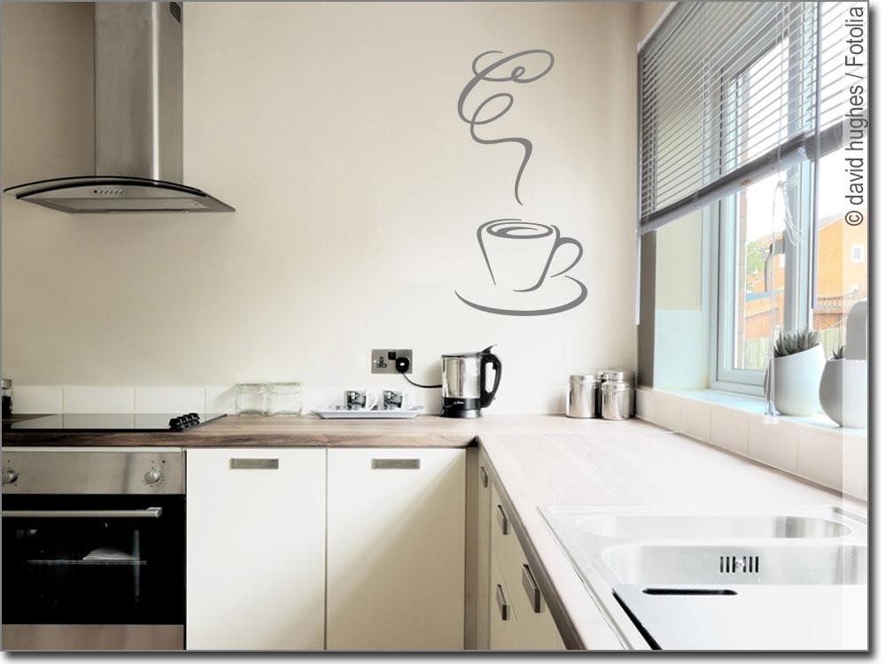 wandtattoo kaffeetasse aufkleber f r die k che. Black Bedroom Furniture Sets. Home Design Ideas