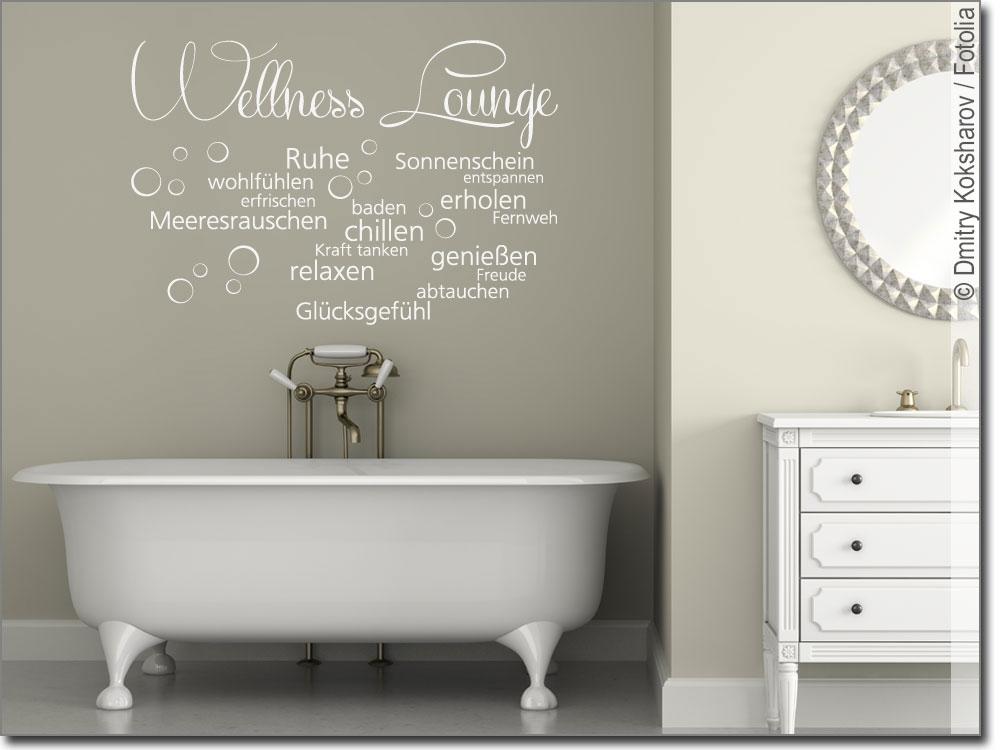 wandaufkleber wellness lounge wandtattoo f r bad. Black Bedroom Furniture Sets. Home Design Ideas