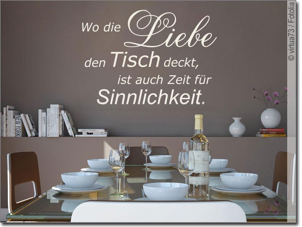 Wandspruch Wo Die Liebe Den Tisch Deckt Wandtattoo