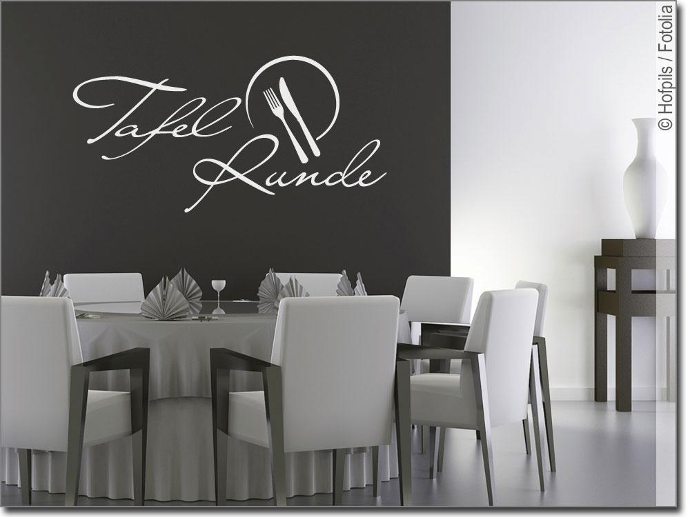 wandtattoo tafelrunde f r esszimmer oder k che. Black Bedroom Furniture Sets. Home Design Ideas