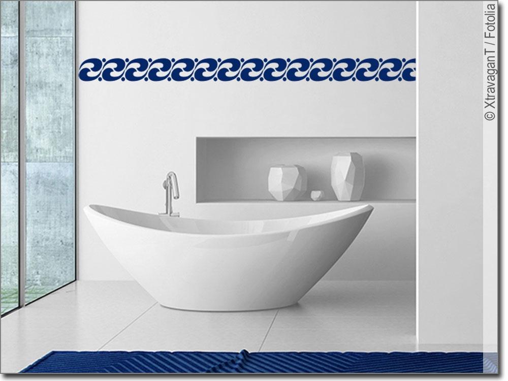 wandtattoo wellenbord re bord re f rs badezimmer. Black Bedroom Furniture Sets. Home Design Ideas