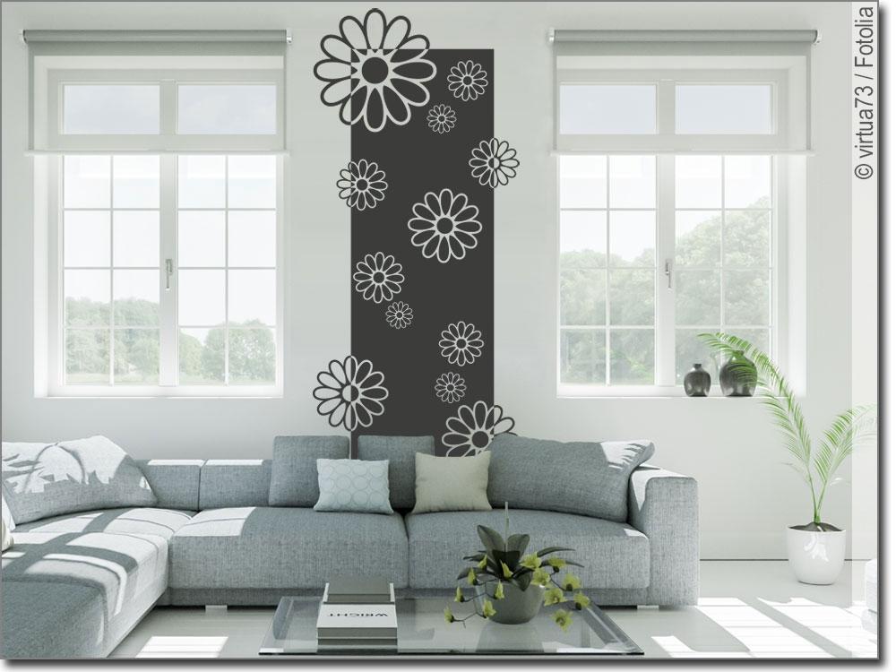 wandbanner sommer blumen wandtattoo tapete zum kleben. Black Bedroom Furniture Sets. Home Design Ideas