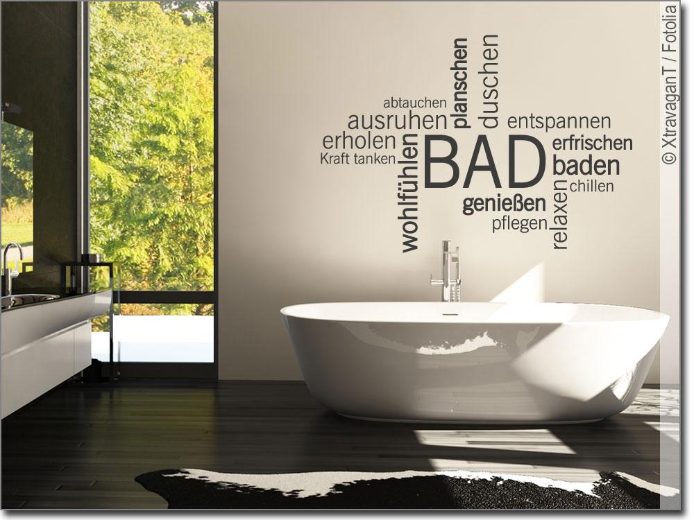 wandtattoo bad verschiedene w rter zum thema wellness. Black Bedroom Furniture Sets. Home Design Ideas