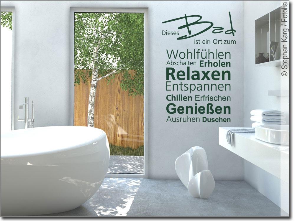 wandworte dieses bad ein wandtattoo f r das badezimmer. Black Bedroom Furniture Sets. Home Design Ideas