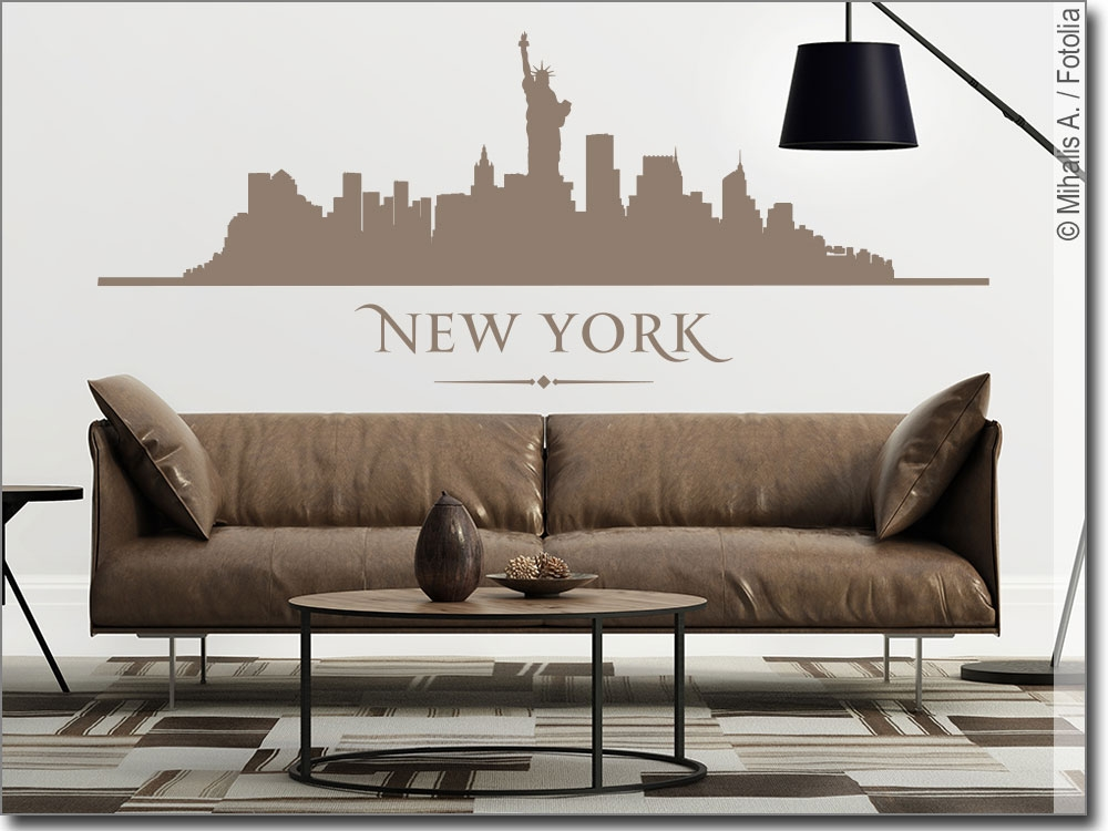 wandtattoo new york skyline als wandaufkleber. Black Bedroom Furniture Sets. Home Design Ideas