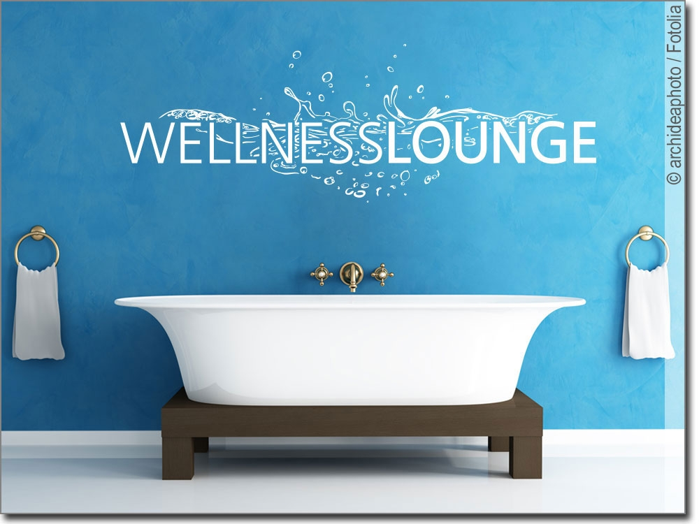 Wandtattoo wellness lounge wandwort f r das bad - Wandtattoo wellness ...