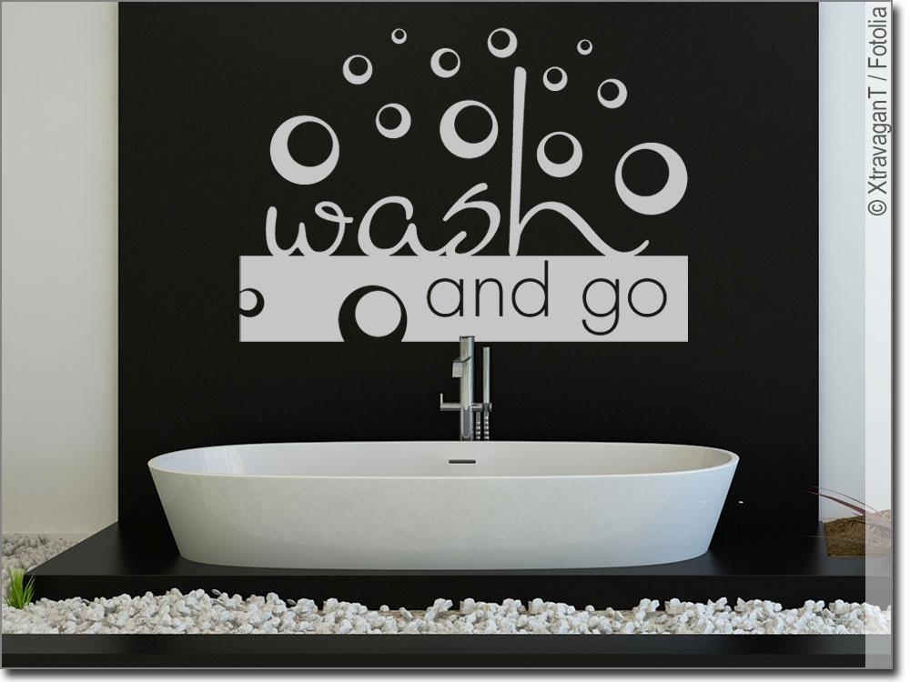 wandtattoo wash and go stylisches badezimmertattoo. Black Bedroom Furniture Sets. Home Design Ideas