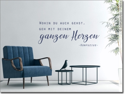 wandtattoo zitate zum gl cklichsein wandaufkleber. Black Bedroom Furniture Sets. Home Design Ideas
