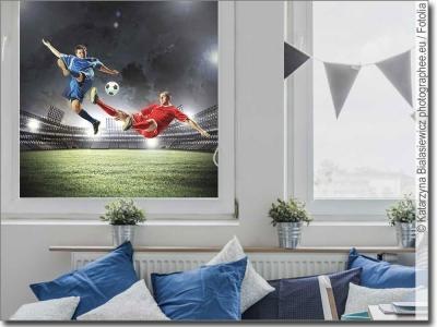 fotofolien mit sport motiven zur glasdekoration. Black Bedroom Furniture Sets. Home Design Ideas