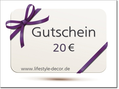 Gutschein 20 Euro lifestyle-decor.de