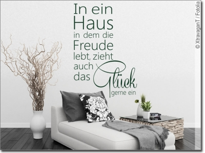 wandspruch jeder ist seines gl ckes schmied wandtattoo. Black Bedroom Furniture Sets. Home Design Ideas