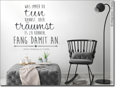 wandtattoo zitate zur motivation wandaufkleber. Black Bedroom Furniture Sets. Home Design Ideas