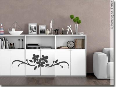 klebefolie f r m bel mit schn rkeln und ornamenten. Black Bedroom Furniture Sets. Home Design Ideas