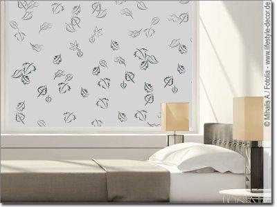 milchglasfolie pflanzen sichtschutz mit pflanzenmotiven. Black Bedroom Furniture Sets. Home Design Ideas