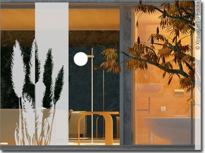 sichtschutz gr ser als fensteraufkleber mit pflanzen. Black Bedroom Furniture Sets. Home Design Ideas