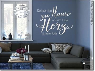 wandtattoo spr che zum gl cklichsein wandaufkleber. Black Bedroom Furniture Sets. Home Design Ideas