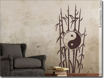asiatische pflanzen als wandtattoo f r zuhause. Black Bedroom Furniture Sets. Home Design Ideas