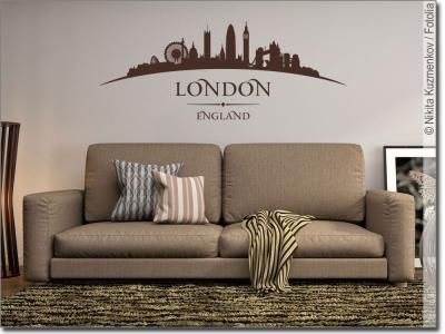 Lifestyle wandtattoos versandkostenfrei in deutschland - Skyline london wandtattoo ...