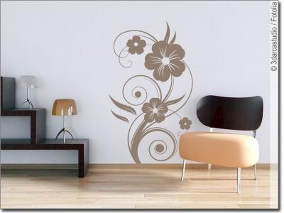 wandtattoo blume eine blume als wandaufkleber. Black Bedroom Furniture Sets. Home Design Ideas