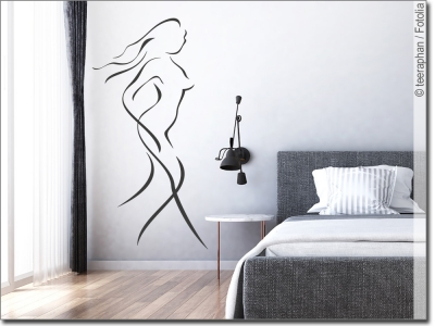 wandtattoo schlafzimmer traumhafte motive und spr che. Black Bedroom Furniture Sets. Home Design Ideas