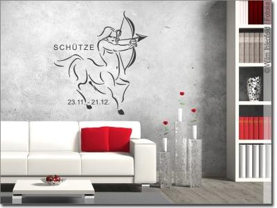 wandaufkleber sternzeichen sch tze. Black Bedroom Furniture Sets. Home Design Ideas