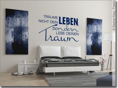 wandtattootr ume nicht dein leben sch ner wandspruch. Black Bedroom Furniture Sets. Home Design Ideas