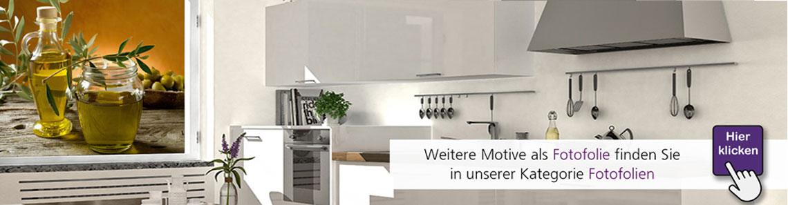 Fotofolie für Küche: Bedruckte Glasfolie nach Maß